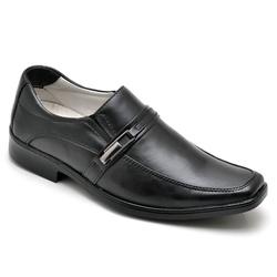 Sapato Social Masculino Conforto Anatomico Preto - Top Franca Shoes | Calçados confortáveis em Couro