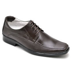 Sapato Social Masculino Conforto Anatomico Cafe - Top Franca Shoes | Calçados confortáveis em Couro