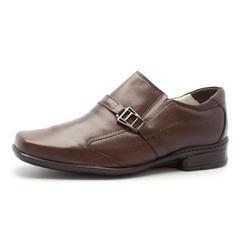 Sapato Social de Conforto Masculino Anatomico Cafe - Top Franca Shoes | Calçados confortáveis em Couro