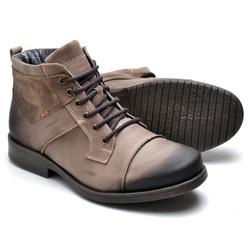 Bota Masculina em Couro Brown - Top Franca Shoes   Calçados confortáveis em Couro