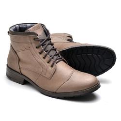 Bota Masculina em Couro Marrom - Diconfort Calçados | Calçados confortáveis e anatômicos