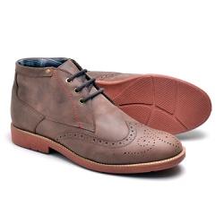 Bota Masculina Oxford Marrom - Top Franca Shoes | Calçados confortáveis em Couro