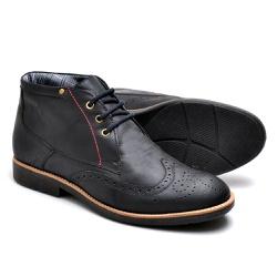 Bota Masculina Oxford Preto - Top Franca Shoes | Calçados confortáveis em Couro