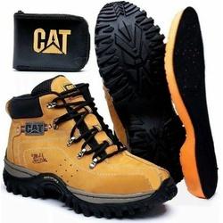 Kit Bota Coturno Adventure Caterpillar Milho + Car... - Top Franca Shoes | Calçados confortáveis em Couro
