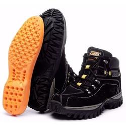 Kit Bota Coturno Adventure Caterpillar Preto + Car... - Top Franca Shoes | Calçados confortáveis em Couro