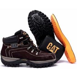 Kit Bota Coturno Adventure Caterpillar Cafe + Cart... - Top Franca Shoes | Calçados confortáveis em Couro