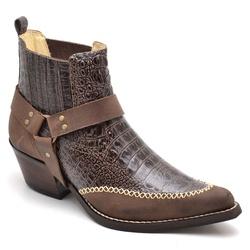 Bota Country Bico Fino Masculina Anaconda Café - Top Franca Shoes | Calçados confortáveis em Couro