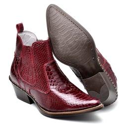Bota Country Masculina Bico Fino Top Franca Shoes ... - Top Franca Shoes   Calçados confortáveis em Couro