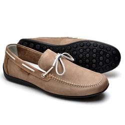 Mocassim Docsider Sapatilha Drive Masculino Marrom - Top Franca Shoes | Calçados confortáveis em Couro