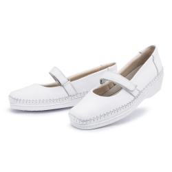 Sapato Sapatilha Top Franca Shoes Boneca Branco - Top Franca Shoes | Calçados confortáveis em Couro
