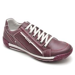 Sapatênis Casual Masculino Bordô - Top Franca Shoes | Calçados confortáveis em Couro