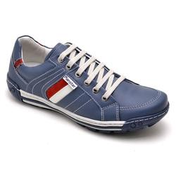 Sapatênis Casual Masculino Esporte Fino azul - Top Franca Shoes | Calçados confortáveis em Couro