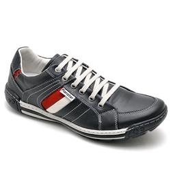 Sapatênis Casual Masculino Esporte Fino preto - Top Franca Shoes | Calçados confortáveis em Couro