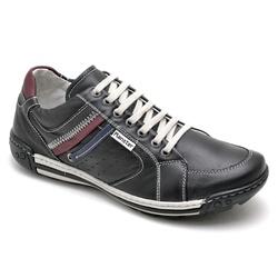 Sapatênis Casual Masculino Preto - Top Franca Shoes | Calçados confortáveis em Couro