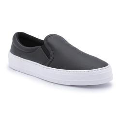 Slip On feminino Top Franca Shoes Preto Fosco - Top Franca Shoes | Calçados confortáveis em Couro