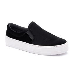 Slip On feminino preto - Top Franca Shoes | Calçados confortáveis em Couro