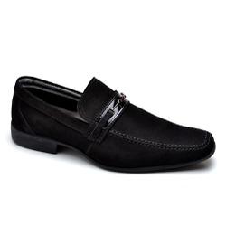 Sapato Social Masculino Couro Preto - Top Franca Shoes | Calçados confortáveis em Couro