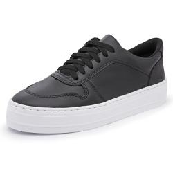 Tênis Feminino Top Franca Shoes Sola Alta Preto - Top Franca Shoes | Calçados confortáveis em Couro