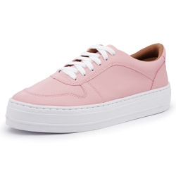Tênis Feminino Sola Alta Rosa - Diconfort Calçados | Calçados confortáveis e anatômicos