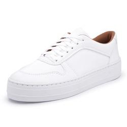Tênis Feminino Sola Alta Branco - Diconfort Calçados | Calçados confortáveis e anatômicos