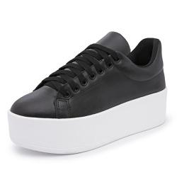 Sapatenis Feminino Sola Alta Preto - Diconfort Calçados   Calçados confortáveis e anatômicos