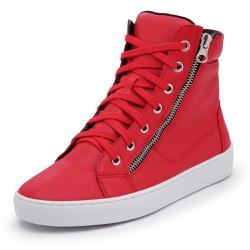 Sapatênis Feminino Cano Alto Vermelho - Diconfort Calçados | Calçados confortáveis e anatômicos