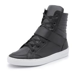 Sapatênis Feminino Cano Alto Top Franca Shoes Pret... - Top Franca Shoes | Calçados confortáveis em Couro