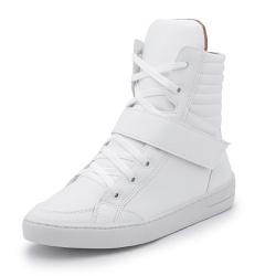 Sapatênis Feminino Cano Alto Top Franca Shoes Bran... - Top Franca Shoes | Calçados confortáveis em Couro