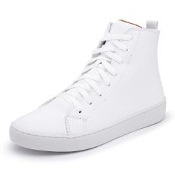 Sapatênis Feminino Cano Alto Branco - Diconfort Calçados | Calçados confortáveis e anatômicos