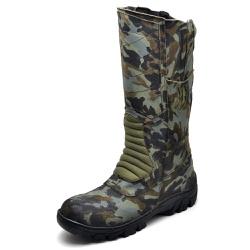 Bota Coturno Militar Panther Exercito Camuflado Se... - Top Franca Shoes | Calçados confortáveis em Couro