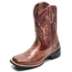 Bota Country Masculina Bico Quadrado Top Franca Sh... - Top Franca Shoes | Calçados confortáveis em Couro