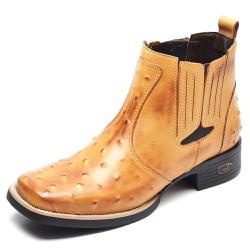 Bota Country Masculina Bico Quadrado Top Franca Sh... - Top Franca Shoes   Calçados confortáveis em Couro