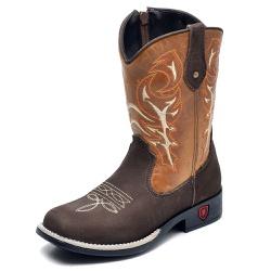 Bota Country Texana Infantil Top Franca Shoes Cafe... - Top Franca Shoes | Calçados confortáveis em Couro