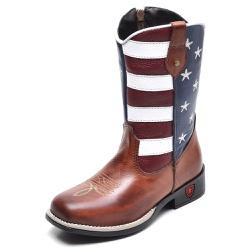 Bota Country Texana Infantil Top Franca Shoes Amer... - Top Franca Shoes | Calçados confortáveis em Couro
