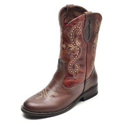 Bota Country Feminina Top Franca Shoes Castor / Co... - Top Franca Shoes | Calçados confortáveis em Couro