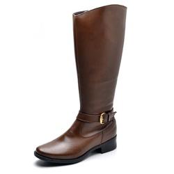 Bota Feminina Montaria Top Franca Shoes Caramelo - Top Franca Shoes | Calçados confortáveis em Couro