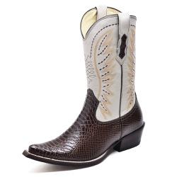 Bota Country Bico Fino Top Franca Shoes Ancaconda ... - Top Franca Shoes   Calçados confortáveis em Couro