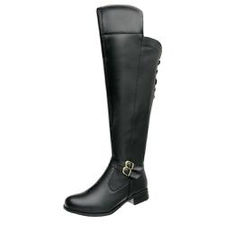 Bota Feminina Montaria Over Top Franca Shoes Preto - Top Franca Shoes | Calçados confortáveis em Couro