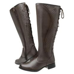 Bota Feminina Montaria Regulagem Top Franca Shoes ... - Top Franca Shoes | Calçados confortáveis em Couro