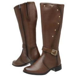 Bota Feminina Montaria Top Franca Shoes Capuccino - Top Franca Shoes | Calçados confortáveis em Couro