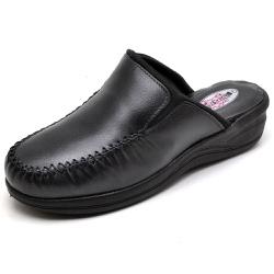 Babuche Sandália Tamanco Conforto Anatomico Ortopé... - Top Franca Shoes   Calçados confortáveis em Couro