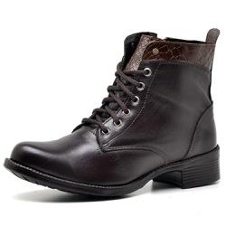 Bota Coturno Country Montaria Feminina Ziper Top F... - Top Franca Shoes | Calçados confortáveis em Couro