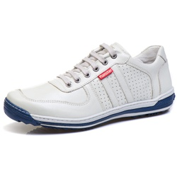 Sapatênis Casual Conforto Masculino Gelo - Diconfort Calçados | Calçados confortáveis e anatômicos
