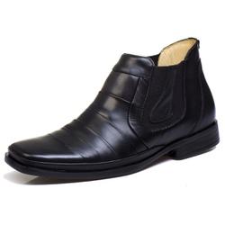 Bota Botina Social Masculino Bico Fino Conforto To... - Top Franca Shoes | Calçados confortáveis em Couro