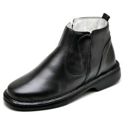 Bota Botina Social Masculino de Conforto Anatômico... - Top Franca Shoes | Calçados confortáveis em Couro