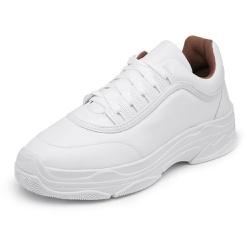 Sapatênis Feminino Sola Alta Top Franca Shoes Bran... - Top Franca Shoes | Calçados confortáveis em Couro