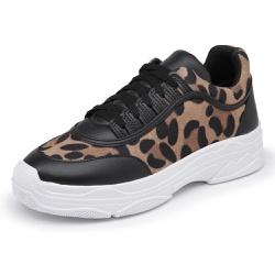 Sapatênis Feminino Sola Alta Top Franca Shoes Onça... - Top Franca Shoes | Calçados confortáveis em Couro