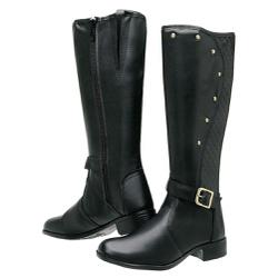 Bota Feminina Montaria Top Franca Shoes Preto - Top Franca Shoes | Calçados confortáveis em Couro