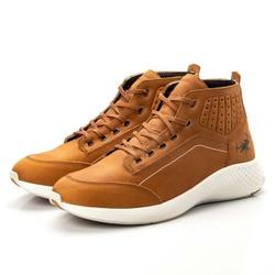 Bota Tênis Sapatênis Top Franca Shoes Olimpo Doura... - Top Franca Shoes   Calçados confortáveis em Couro