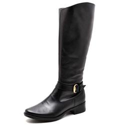 Bota Feminina Montaria Top Franca Shoes Preta - Top Franca Shoes | Calçados confortáveis em Couro